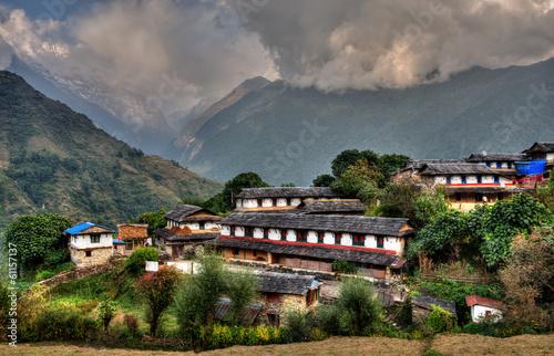 Wall Murals Nepal Ghandruk village in Nepal