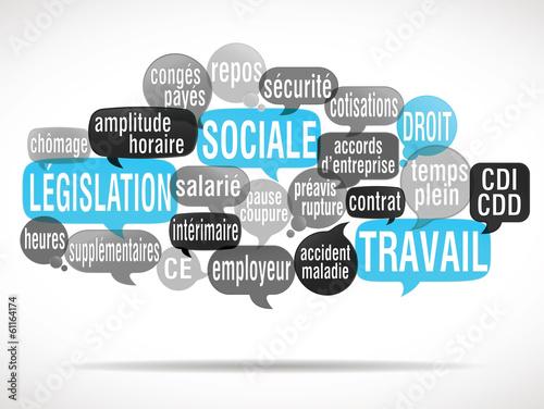 Photo  nuage de mots : législation sociale, droit du travail (cs5)