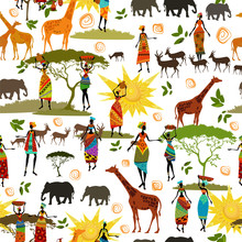 Ethnic African Seamless Texture