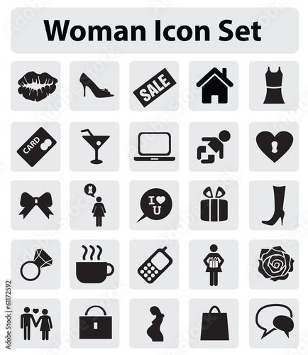 Fotografie, Obraz  Woman icon set