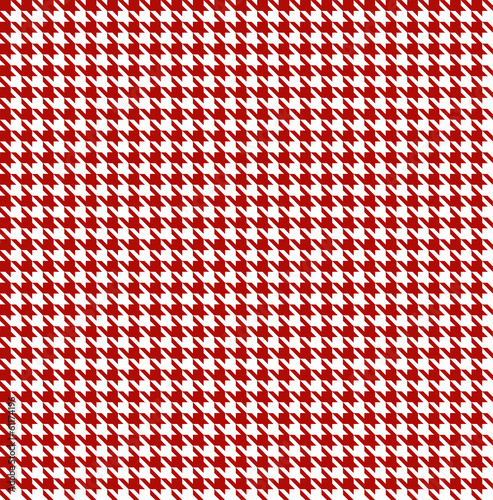 Photographie Red-white houndstooth background -seamless