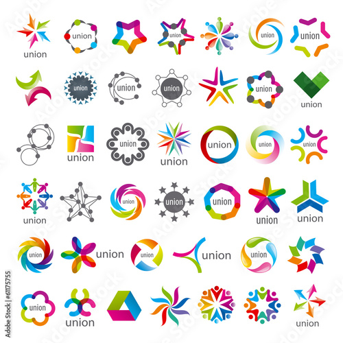 Stampa su Tela biggest collection of vector logos Union