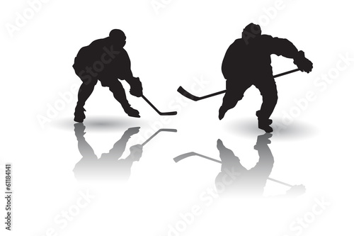 Photo  Ice hockey player Vector