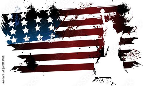 amerykanska-flaga-w-stylu-grunge