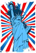 Statue Of Liberty Grunge Backg...