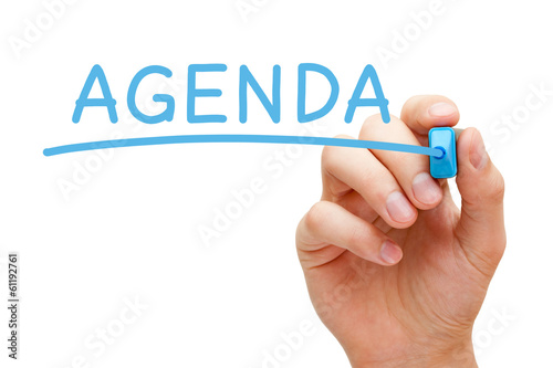 Agenda Blue Marker Canvas Print