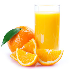 Fototapeta Fresh orange with juice