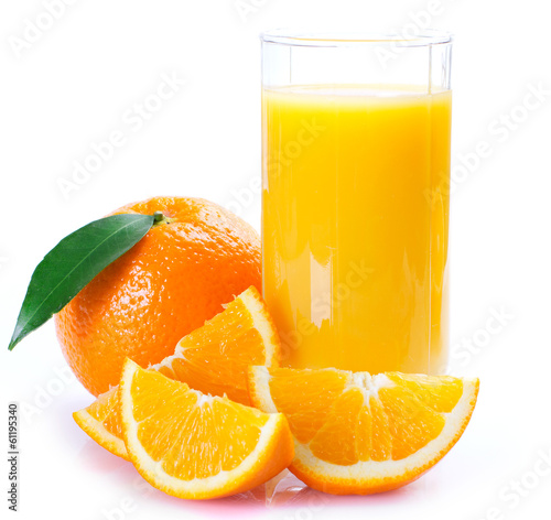Staande foto Sap Fresh orange with juice