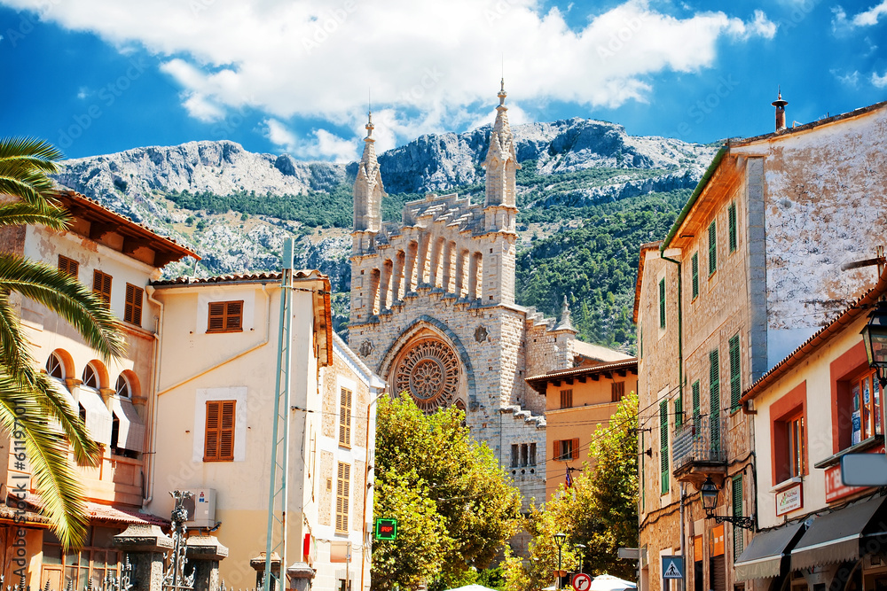 Fototapety, obrazy: View of Soller in Mallorca