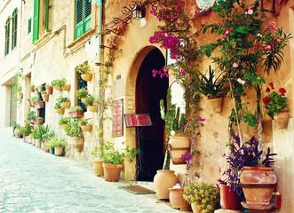 Fototapeta Architektura Street in Valldemossa village in Mallorca