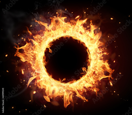 Fotobehang Vuur Fire circle