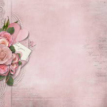 Vintage Love Background With P...