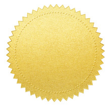 Gold Paper Seal Or Medal With ...