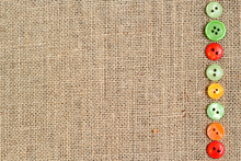 Burlap Background With Buttons...