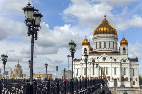 Moscow, Russia . View of the Cathedral of Christ the Savior © Elena Belyaeva