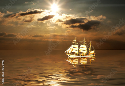Canvas Prints Ship Windjammer