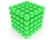 Leinwanddruck Bild - Orbs block. Assembling concept. On white.
