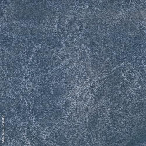 Deurstickers Leder blue leather texture