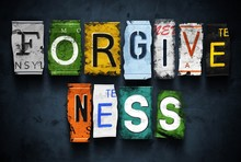Forgiveness Word On Vintage Br...