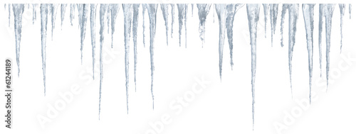 Cuadros en Lienzo Icicles set on white background