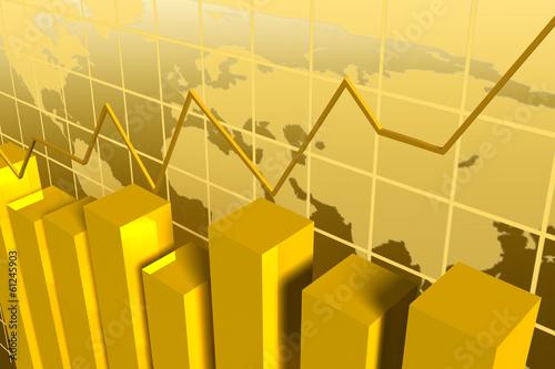 Photo grafico debarras doradas