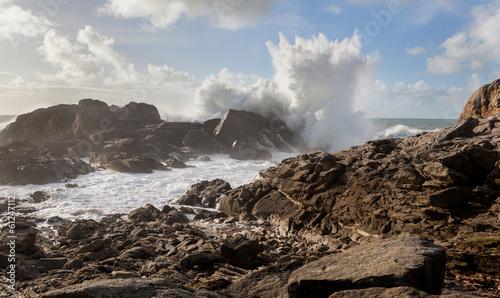 In de dag Onweer Tempête, Bretagne