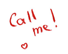 Inscription Red Lipstick - Call Me!