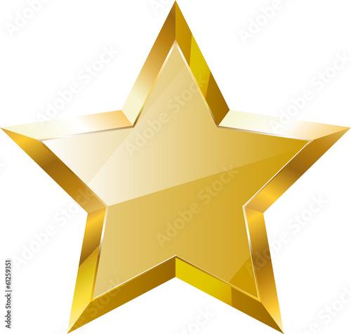 Obraz Gold star - fototapety do salonu