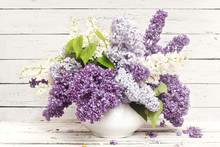 Beautiful Bunch Of Lilac In Th...