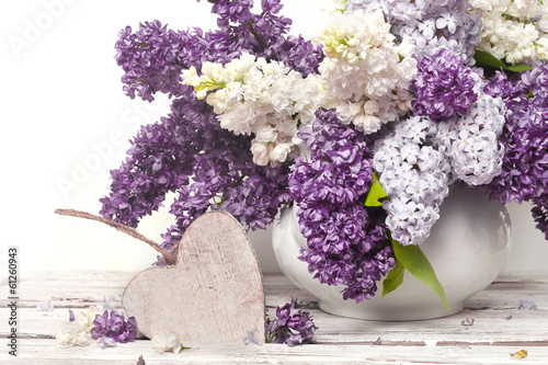 Foto op Canvas Lilac Beautiful Bunch of Lilac in the Vase