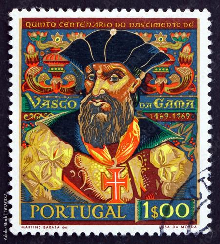 Photo Postage stamp Portugal 1969 Vasco da Gama, Navigator
