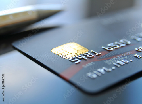Fototapeta Zahlen mit Kreditkarte obraz