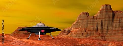Foto op Canvas UFO UFO landed - 3D render