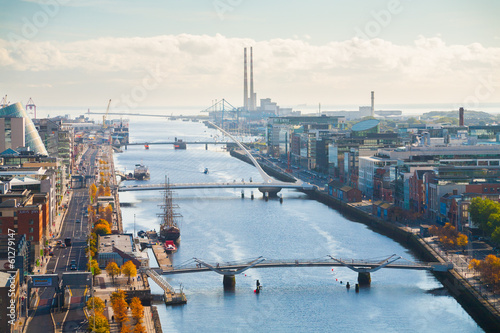 View over Dublin Wallpaper Mural