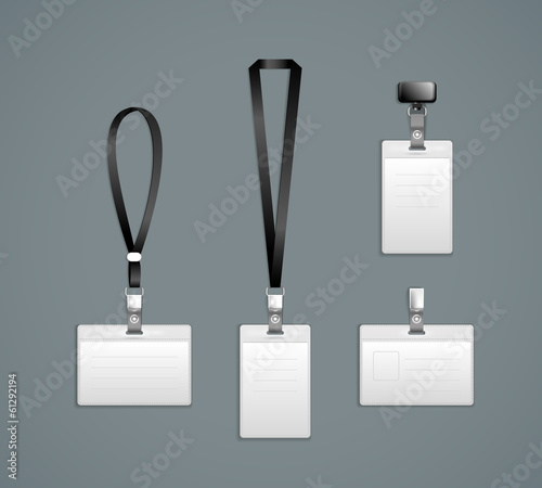 Photo Lanyard, retractor end badge templates