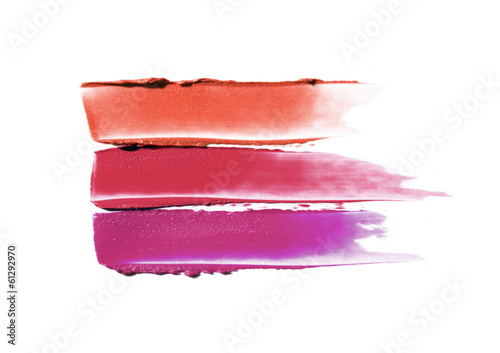 Fotografie, Obraz  Collection of smudged lipsticks