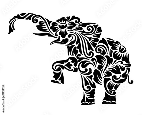 Elephant Floral Ornament Decoration