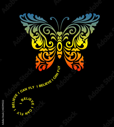 Butterfly Floral Ornament Decoration