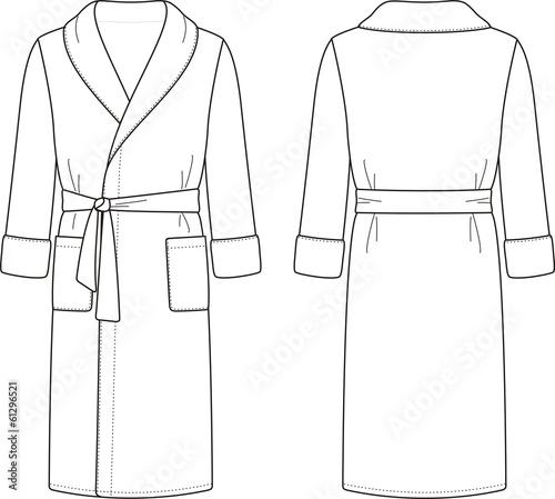 Fotografie, Obraz  Vector illustration of men's bathrobe