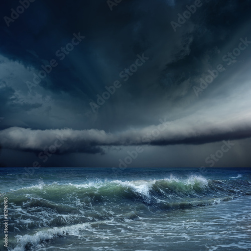 Photo sur Toile Tempete Stormy weather