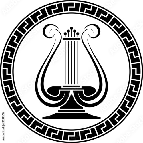 Photo stencil of lyre