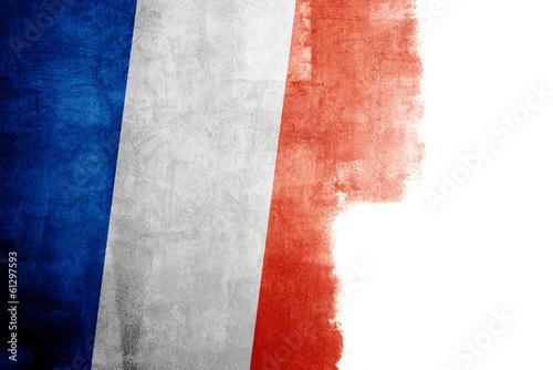 Fototapeta Grunge flag of France