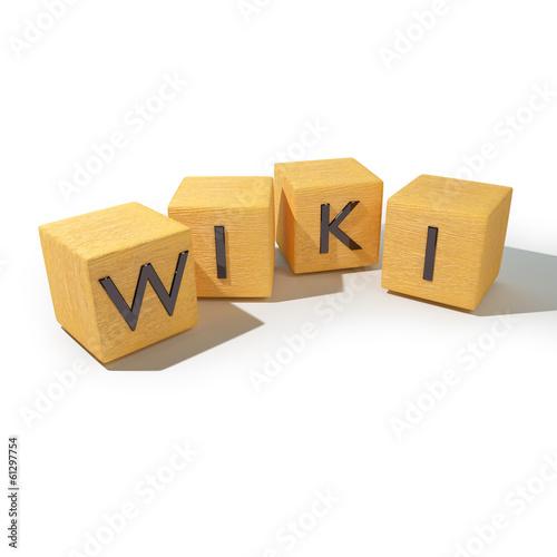 Photo  Würfel mit WIKI