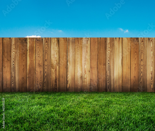 Slika na platnu garden fence