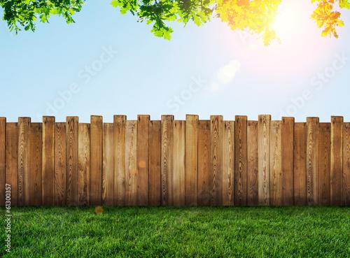 Canvas Print garden fence