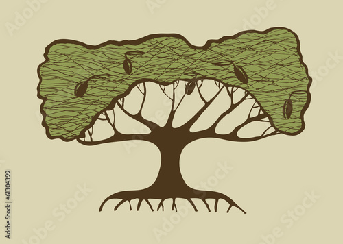 Illustration Of Old Olive Tree Symbol Of Greece Buy This Stock