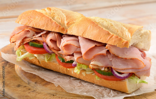 Photo Stands Snack Ham salad sub sandwich