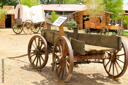 Fotobehang Indiërs charrette western, Arizona