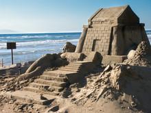 Huge Sandcastle On The Beach O...