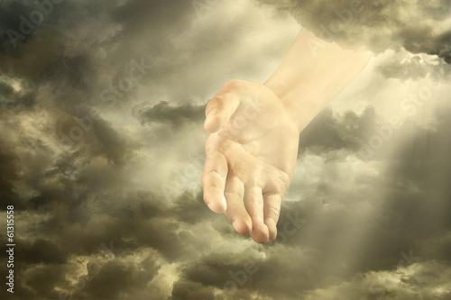 Fotografie, Obraz  Hand Of God
